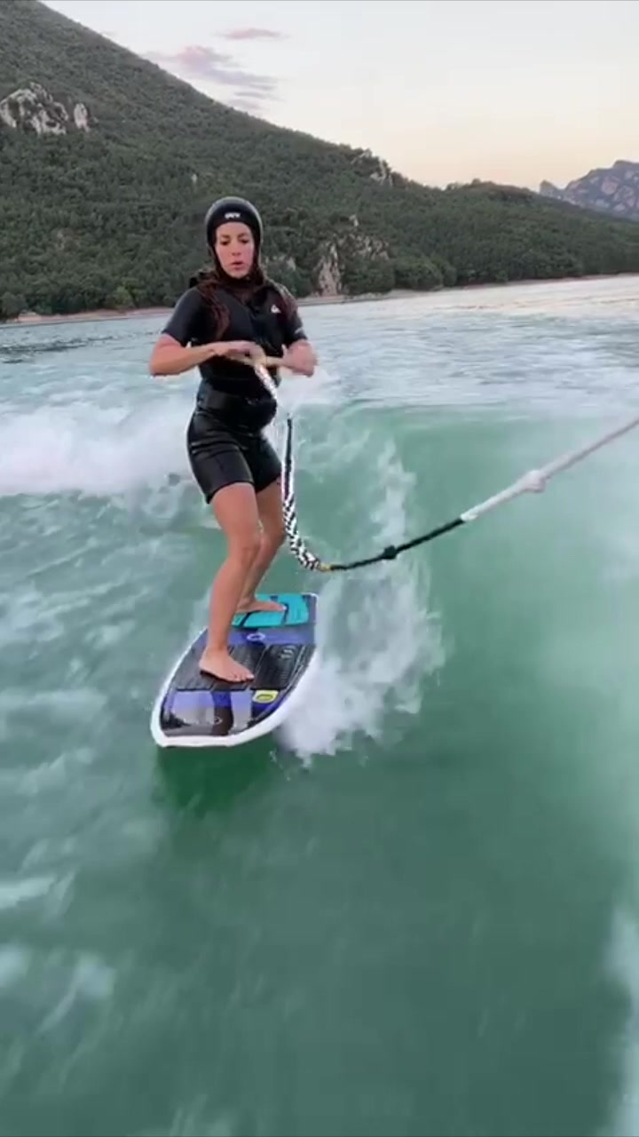 Video with title 'For the record, my first time wake surfing! Wheeee! Conste que fue mi primera vez wake surfing! Wheeeee! #tbt #wakesurfing'