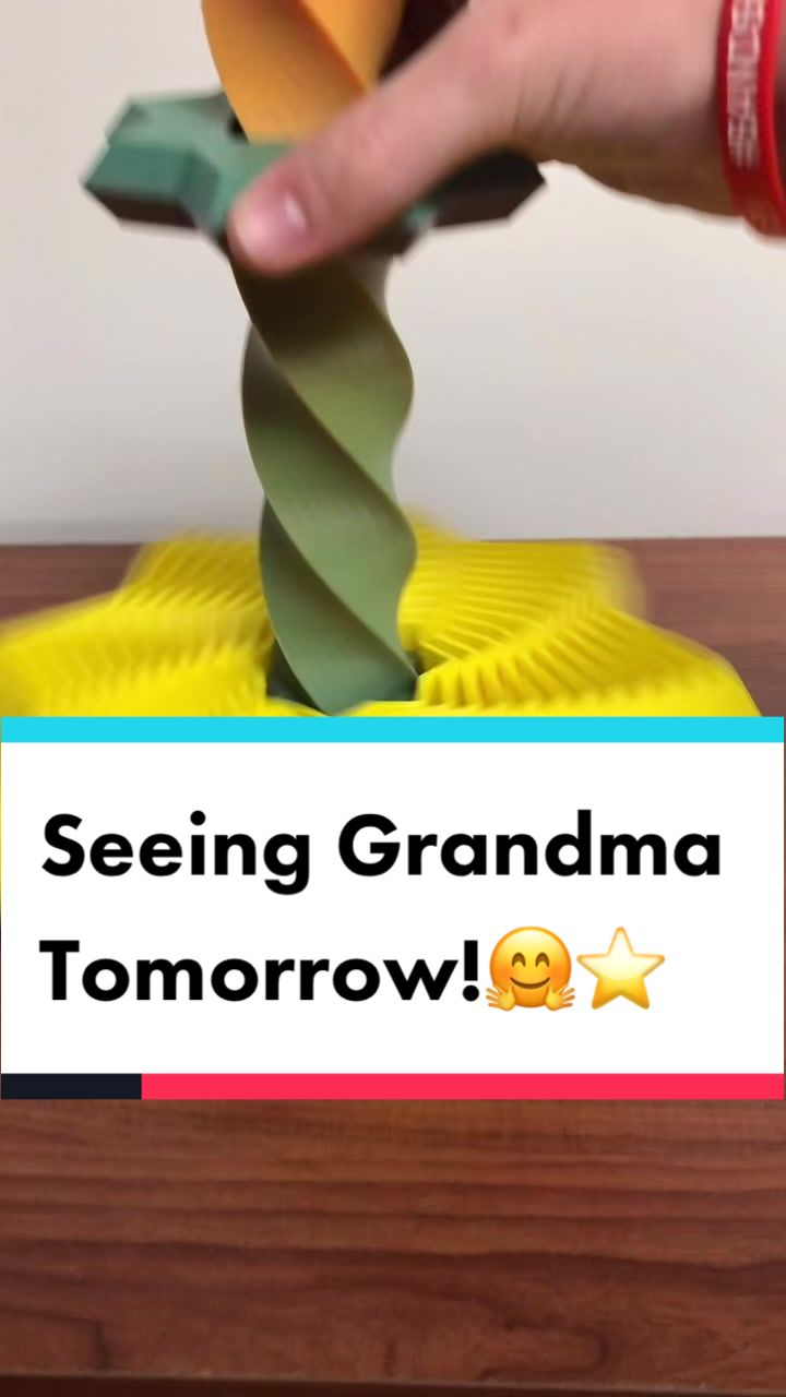 Video with title 'Can't wait for Grandma to see this tomorrow! #fypシ #foryou #grandma #3dprinting #granny #fidgettoys #3dnerds #3dprinter #spaghettidetective #diy'